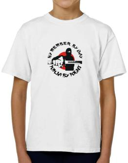 Hy Member By Day, Ninja By Night T-Shirt Boys Youth