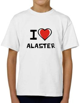 I Love Alaster T-Shirt Boys Youth