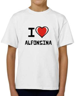 I Love Alfonsina T-Shirt Boys Youth