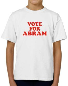 Vote For Abram T-Shirt Boys Youth