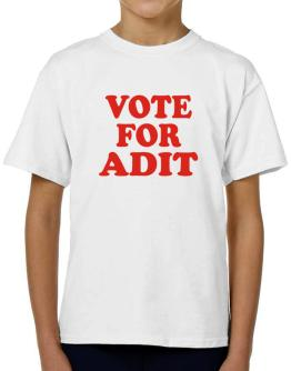 Vote For Adit T-Shirt Boys Youth