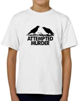 Crows Attempted Murder T-Shirt Boys Youth