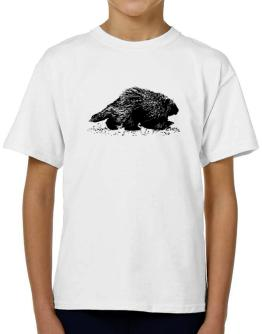 American Porcupine sketch T-Shirt Boys Youth
