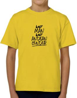 Half man half Andean Condor T-Shirt Boys Youth