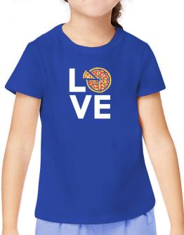 Love pizza T-Shirt Girls Youth