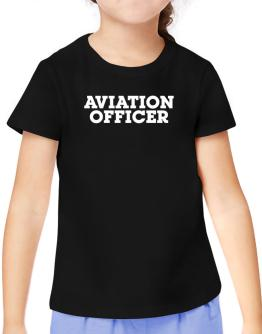 Aviation Officer T-Shirt Girls Youth
