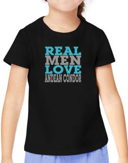 Real Men Love Andean Condor T-Shirt Girls Youth