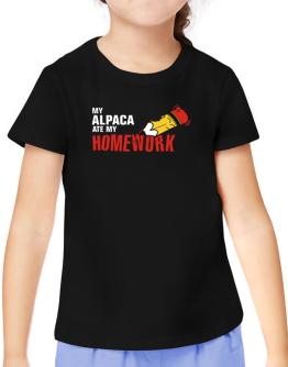 My Alpaca Ate My Homework T-Shirt Girls Youth