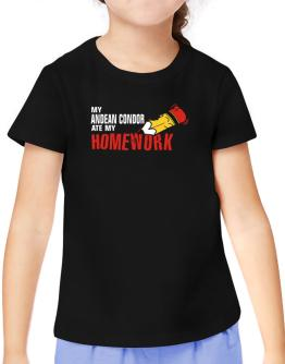 My Andean Condor Ate My Homework T-Shirt Girls Youth