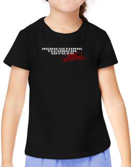 Agricultural Technical Officer With Attitude T-Shirt Girls Youth