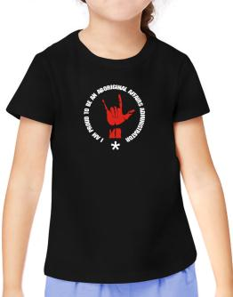 I Am Proud To Be An Aboriginal Affairs Administrator T-Shirt Girls Youth