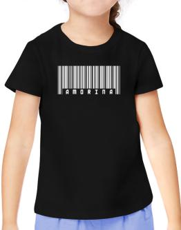 Amorina - Barcode T-Shirt Girls Youth