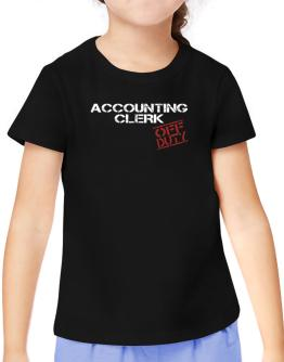 Accounting Clerk - Off Duty T-Shirt Girls Youth