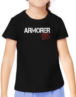 Armorer - Off Duty T-Shirt Girls Youth