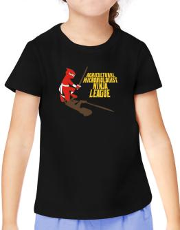 Agricultural Microbiologist Ninja League T-Shirt Girls Youth