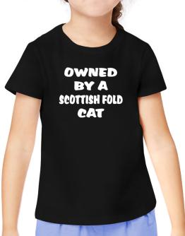Owned By S Scottish Fold T-Shirt Girls Youth