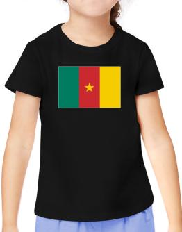 Cameroon Flag T-Shirt Girls Youth
