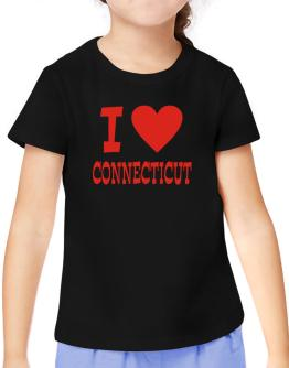 I Love Connecticut T-Shirt Girls Youth