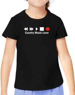 Country Music Lover T-Shirt Girls Youth