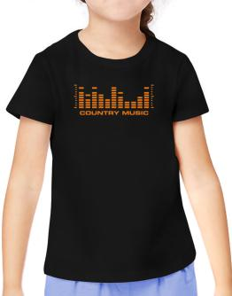 Country Music - Equalizer T-Shirt Girls Youth
