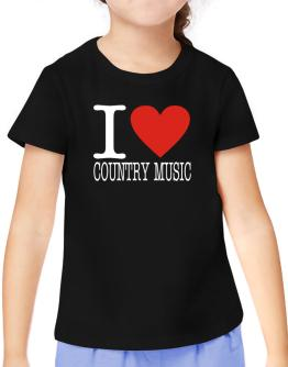 I Love Country Music T-Shirt Girls Youth
