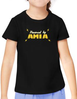Powered By Amia T-Shirt Girls Youth