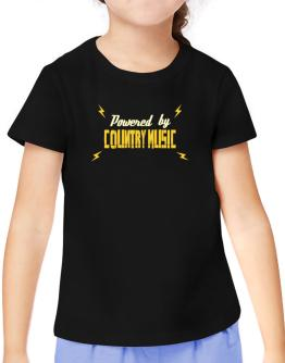 Powered By Country Music T-Shirt Girls Youth
