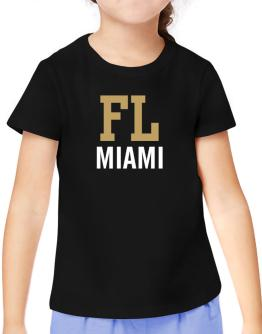 Miami - Postal usa T-Shirt Girls Youth
