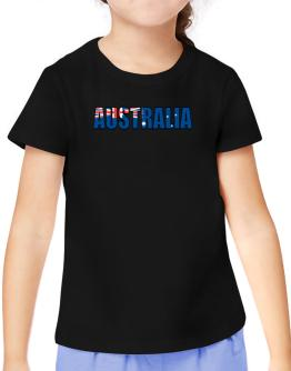 Australia Flag T-Shirt Girls Youth