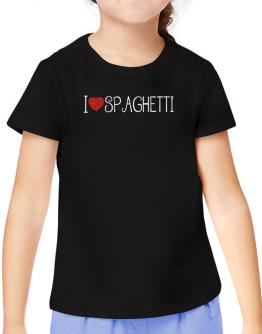 I love Spaghetti cool style T-Shirt Girls Youth