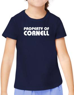 """"""" Property of Cornell """" T-Shirt Girls Youth"""