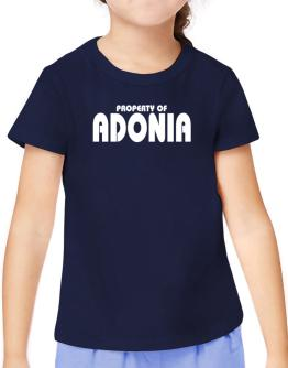 Property Of Adonia T-Shirt Girls Youth