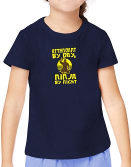 Attendant By Day, Ninja By Night T-Shirt Girls Youth