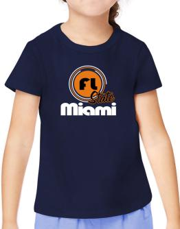 Miami - State T-Shirt Girls Youth