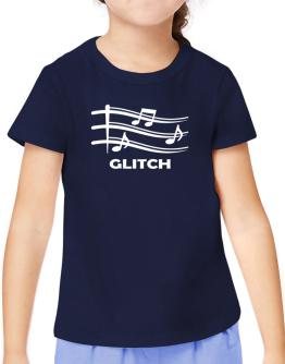 Glitch - Musical Notes T-Shirt Girls Youth