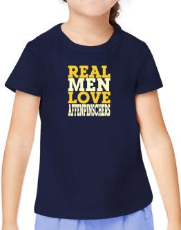 Real Men Love Affenpinschers T-Shirt Girls Youth