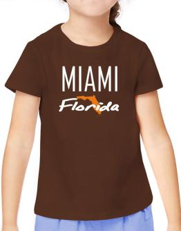 """ Miami - State Map "" T-Shirt Girls Youth"