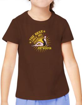 The best girls are from Antwerpen - pinup T-Shirt Girls Youth