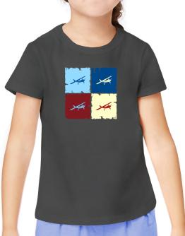 """ Aerobatics - Pop art "" T-Shirt Girls Youth"