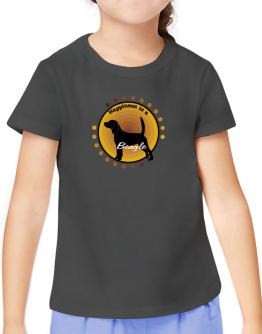 """ Happiness is Beagle "" T-Shirt Girls Youth"
