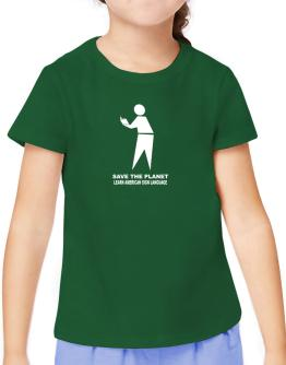 Save The Planet Learn American Sign Language T-Shirt Girls Youth