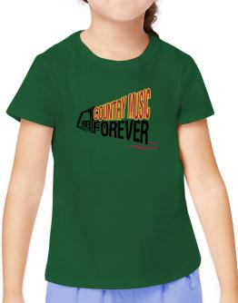 Country Music Forever T-Shirt Girls Youth
