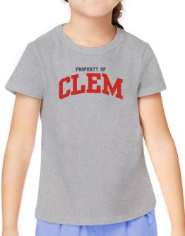 Property Of Clem T-Shirt Girls Youth