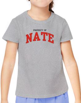 Property Of Nate T-Shirt Girls Youth