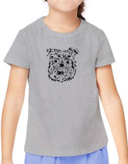 """ Affenpinscher FACE SPECIAL GRAPHIC "" T-Shirt Girls Youth"