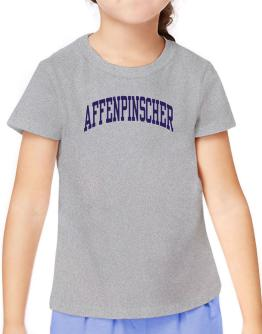 Affenpinscher Athletic Applique / Embroidery T-Shirt Girls Youth