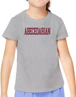 Abecedarian - Simple Athletic T-Shirt Girls Youth