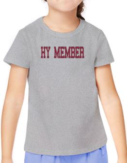 Hy Member - Simple Athletic T-Shirt Girls Youth