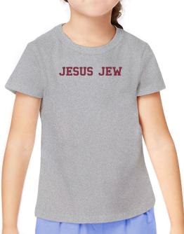 Jesus Jew - Simple Athletic T-Shirt Girls Youth