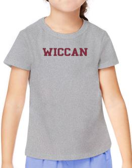 Wiccan - Simple Athletic T-Shirt Girls Youth